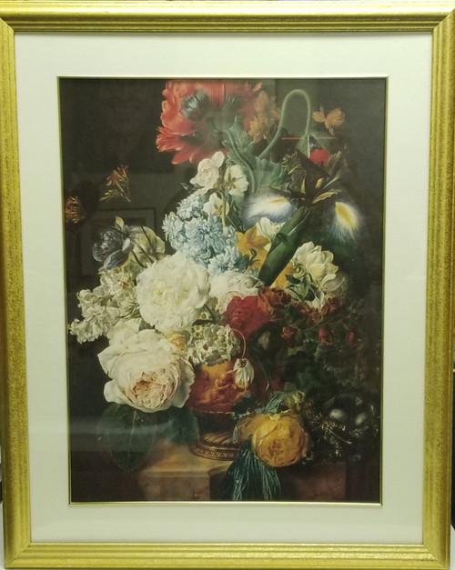 Large Framed Art - Still Life Vase w/ Cherubs (24x30)