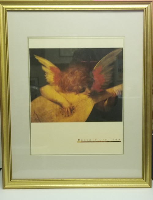 """Framed Art - """"Angel Playing The Lute"""""""