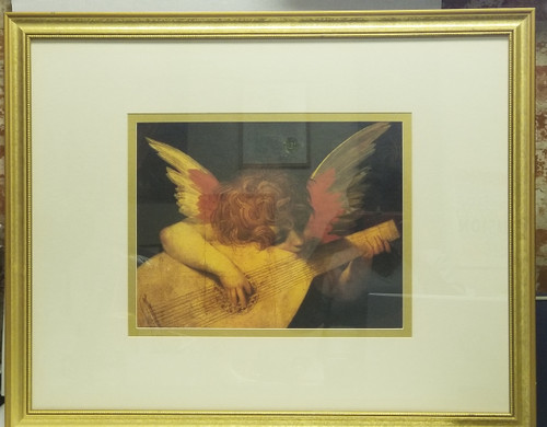 """Framed Art - Rosso Fiorentino """"Angel Playing The Lute"""""""
