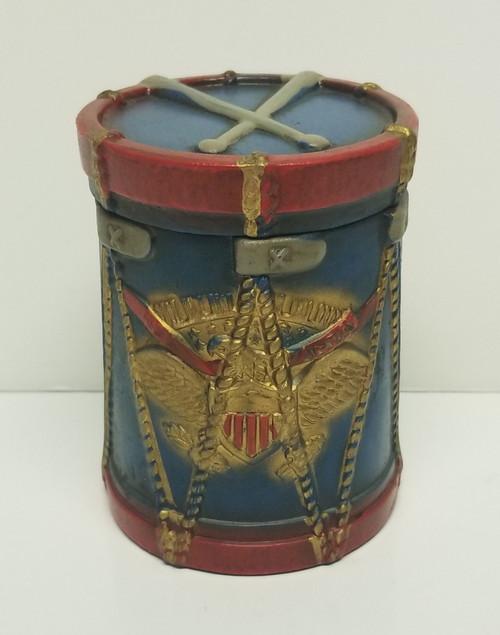 Patriotic American Eagle Trinket Drum w/Lid