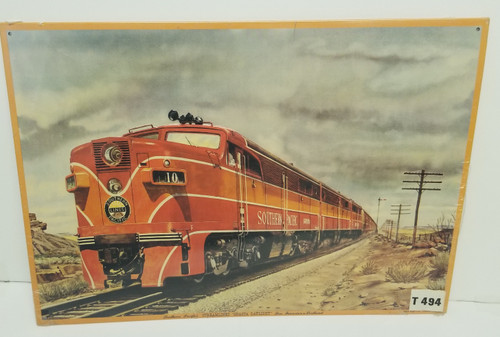 """Southern Pacific's STEAMLINED """" SHASTA Daylight""""  AAA Sign Reproduction"""