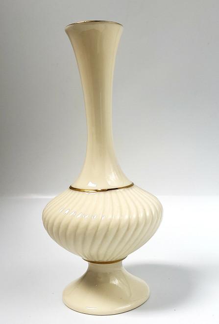 """Vtg LENOX 24kt Trim Bud Vase 7"""""""