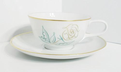 """Easterling """"Spencerian Rose"""" Cup & Saucer"""