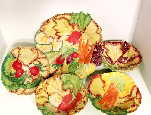 5 Piece Temp-Tations Figural SALAD Serving Bowl Set