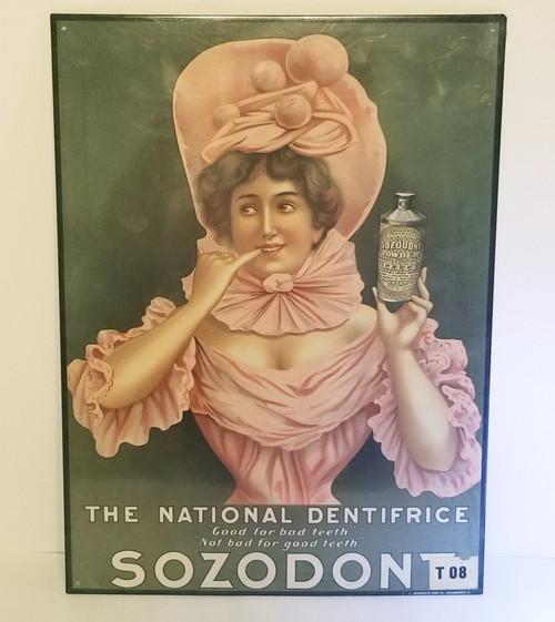 SOZODONT Vintage Dentifrice Metal Sign (SEALED)