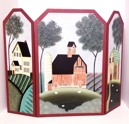 Tri-Fold Country Farm Themed Screen/Cover/Divider