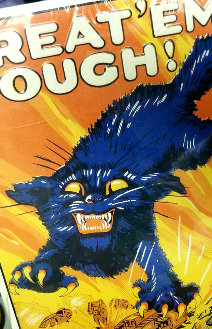 """**RARE """"Treat'EM Rouch!"""" Join The Tanks Metal Sign"""