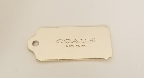 """Gold-Tone """"COACH"""" NEW YORK Replacement Tag"""