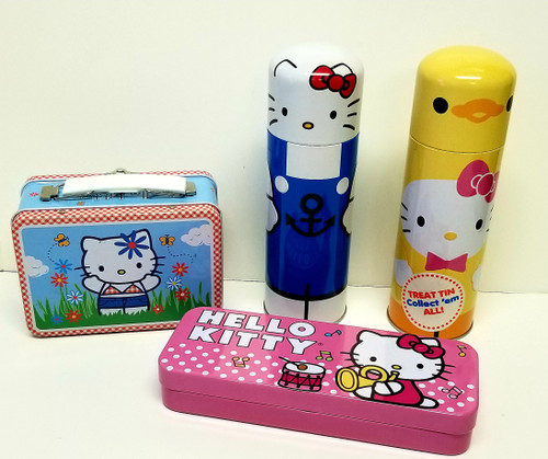 Collection Of 4 Hello Kitty Tin's/Mini-Lunch