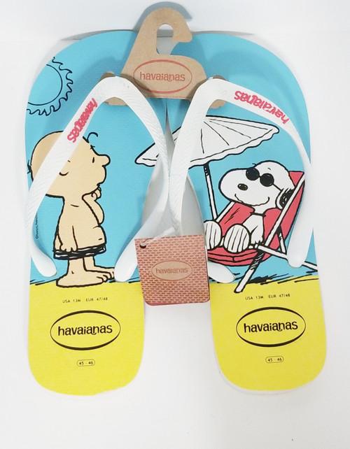 Charlie & Snoopy Havaianas Flip Flops  MEN's Size 13