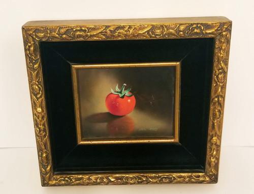 """Vintage Still Life """"Cherry Tomatoe"""" Resin Rose Framed Art"""