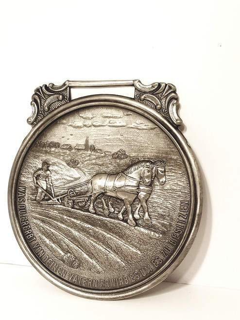 Frieling Inn 95% Germany Pewter Wall Plaque/Medal