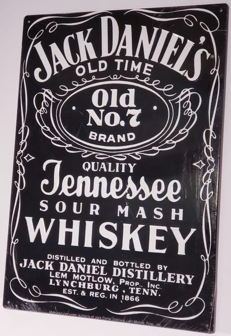 """Jack Daniel's No. 7 Whiskey Metal/Tin Sign  Large 17"""" H"""