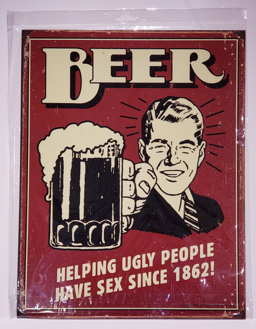 BEER - Metal/Tin Funny/Humor/Nostalgic Sign 12.5 x 16