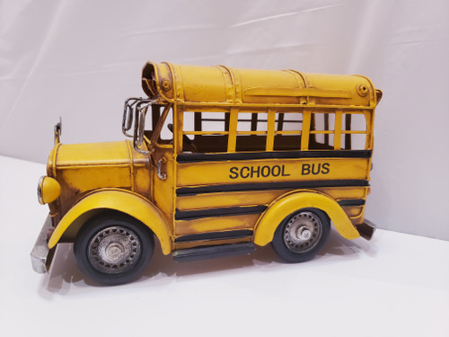 Retro Metal/Tin Yellow School Bus Model