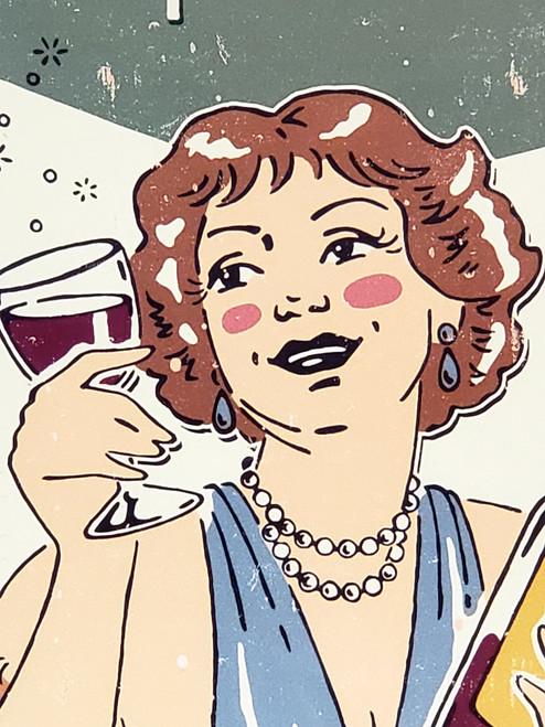 Wine Improves With Age - Nostalgic Humor Sign
