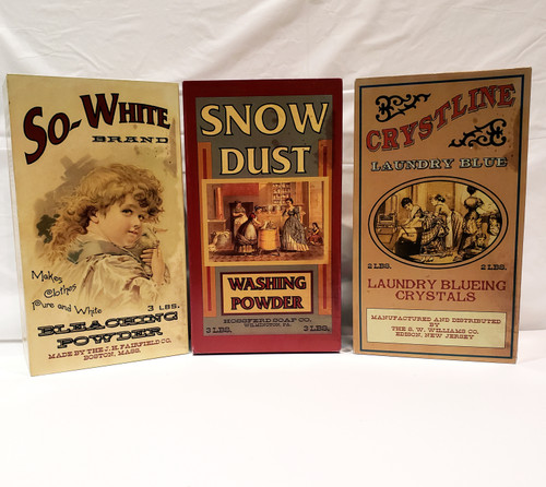 Collection Of 3 Knott's Vintage Laundry Replica Laundry Soap Boxes