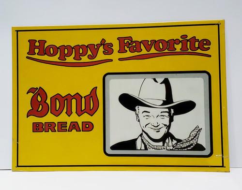 Hoppy's Favorite Bond Bread Tin Sign