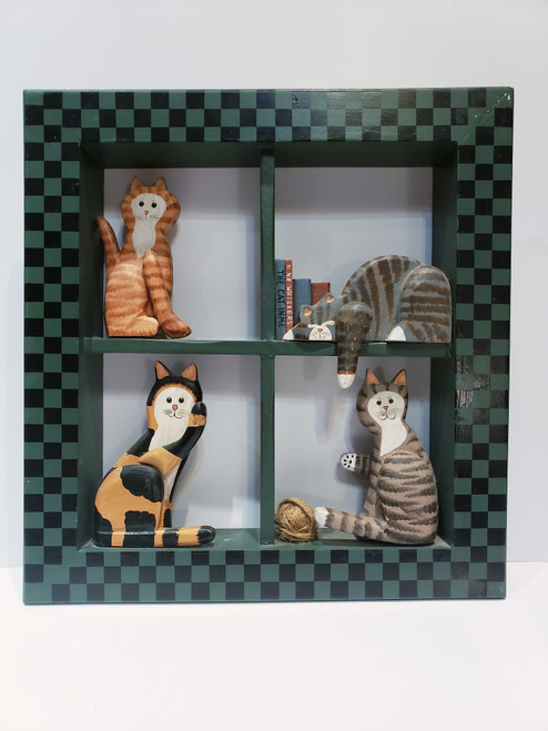 Kitty-Cat Crafted Framed Shadow Box