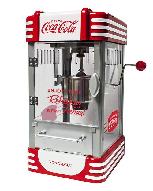 Nostalgic Coca-Cola Kettle Popcorn Maker