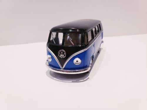 1962 Volkswagen Classical Bus (Blue/Black-Top) 1:32 Scale