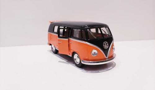1962 Volkswagen Classical Bus (Orange/Black-Top) 1:32 Scale