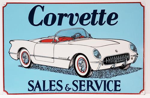 Corvette Sales & Service Metal/Tin Sign