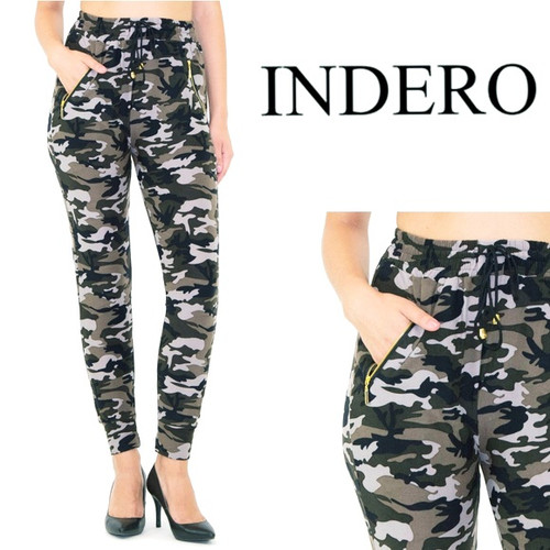 Indero Active Collection   Relaxed Fit   Gold Side Zipper