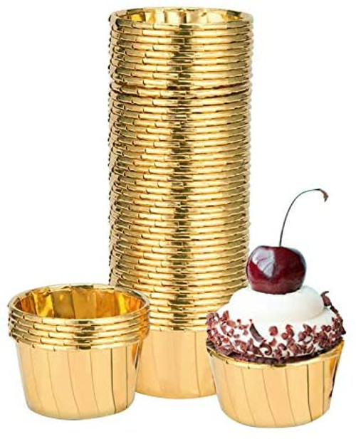 30 Count - Gold | Treat Cups | Baking Decor | Party Cups