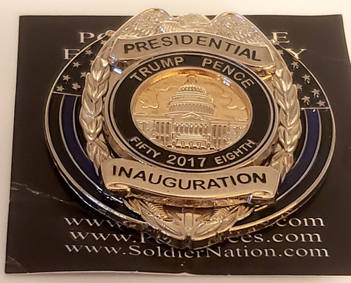 Limited Edition Trump Pence 2017 Presidential Inauguration Mini Metal Police Badge