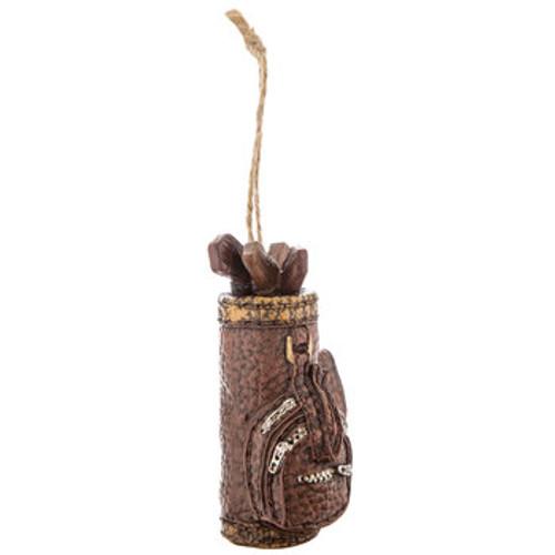 Brown Golf Bag Christmas Ornament