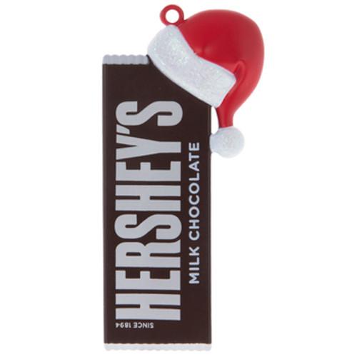 Hershey's Candy Bar w/Santa Hat Ornament