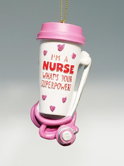 """I'm A Nurse"" Ornament"
