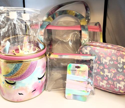 Under One Sky Girl's 6 Piece Unicorn Bag Set