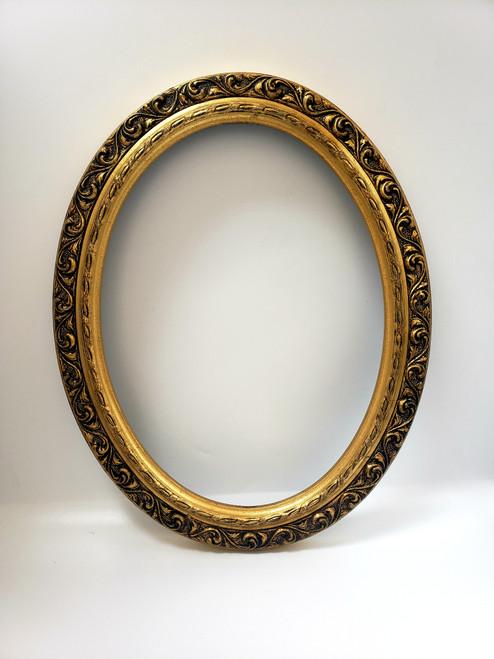 Gold Ornate & Oval Acanthus Leaf Frame