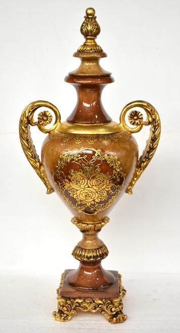 Large Resin & Ornate Molina Presentation Urn Vase