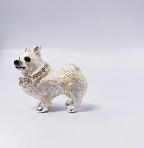 Lanren-Spencer & Posh Pooch Pins w/Austrian Crystals Brooch's  - American Eskimo Dog