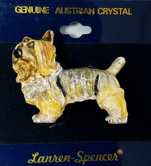 Lanren-Spencer & Posh Pooch Pins w/Austrian Crystals Brooch's - Australian Silky Terrier
