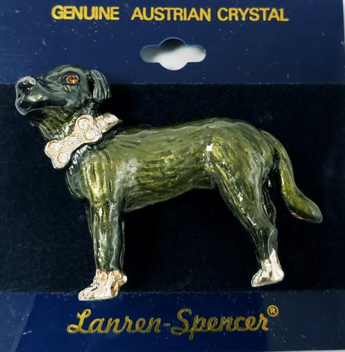 Lanren-Spencer & Posh Pooch Pins w/Austrian Crystals Brooch's - Portuguese Cattle Dog