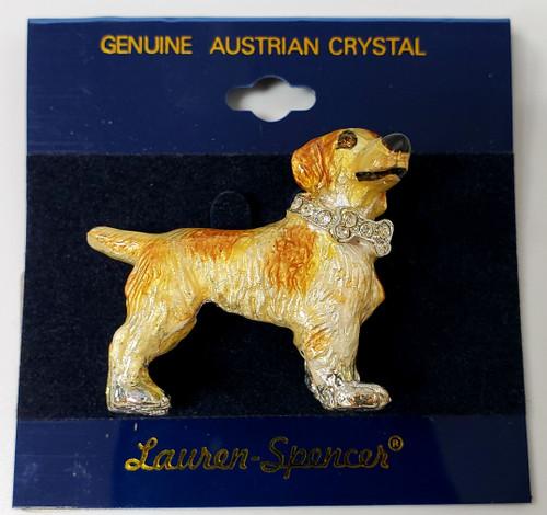 Lanren-Spencer & Posh Pooch Pins w/Austrian Crystals Brooch's - Brittany
