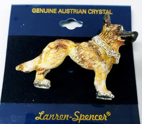 Lanren-Spencer & Posh Pooch Pins w/Austrian Crystals Brooch's  - Malinois