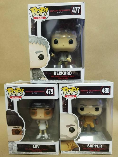 Blade Runner 2049 Funko POP! Bundle #477 Deckard  #479 LUV  #480 Sapper