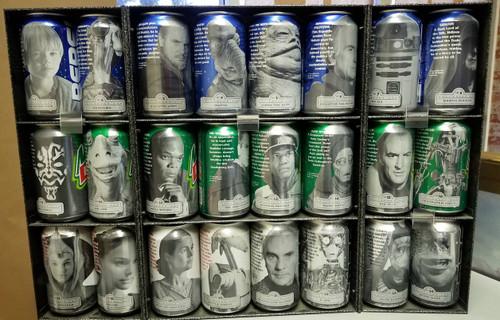 STAR WARS Episode 1 Exclusive Pepsi Display 24 Cans