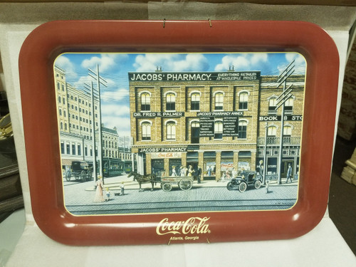 "Coca Cola ""DRINK COCA-COLA"" Tray Featuring Jacob's Pharmacy"
