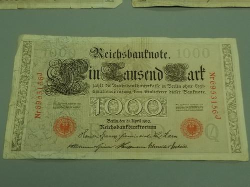 (3)  1000 Mark Reichsbanknote 1910 - Red