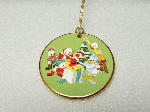 """'Tis The Season """"Celebrating Donald Duck's 50th Birthday"""" Ornament by Grolier Collectibles (Gold Trim)"""