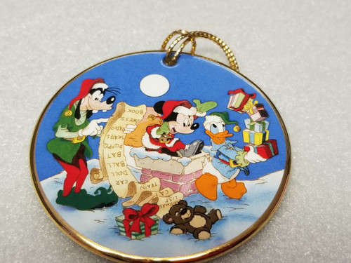 """'Tis The Season """"Checking It Twice"""" Ornament by Grolier Collectibles (Gold Trim)"""