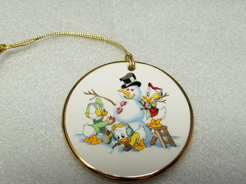 """'Tis The Season """"Holiday Snowman"""" Ornament by Grolier Collectibles (Gold Trim)"""