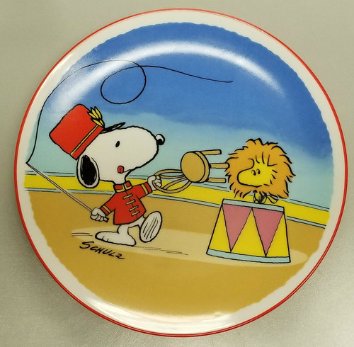 """PEANUTS Characters 1986 Fourth Limited Edition Collectors Plate """"FLYIN TAMER SNOOPY"""""""