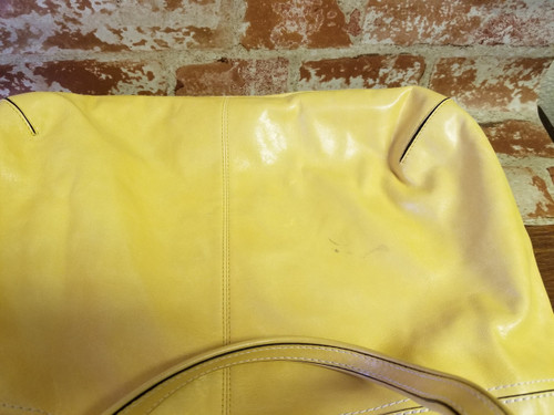 b760cc60340 Poppy Sunflower Yellow COACH Tote-Bag - PREOWNED - Annie Rooster's ...